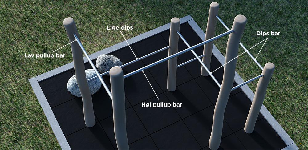 Pull-up stativ i haven til udendørs træning