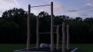 Udendørs træningsstativ i haven til udendørs fitness