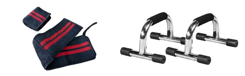 Wrist wraps og push up bar kan aflaste håndledet